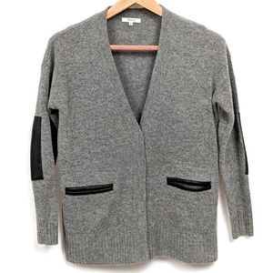 Madewell Sweaters - Madewell Favorite Leather Trimmed Cardigan sz XS